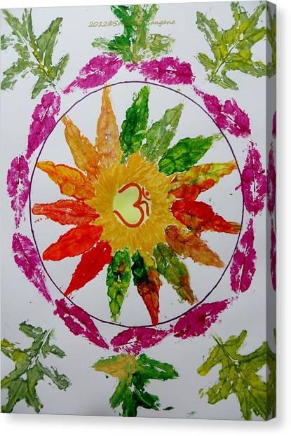 Mandal Canvas Print - Autumn Chakra by Sonali Gangane