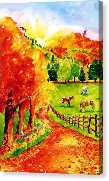 Autumn Graze Canvas Print by Sloane FinneganAllen