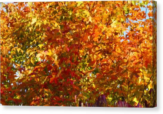 Autumn In October Canvas Print by Anthony Rego