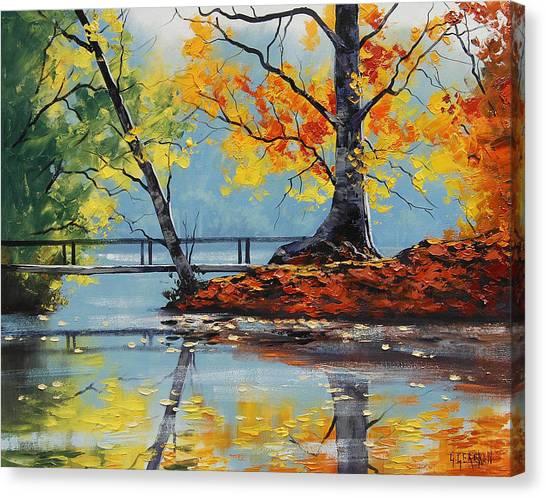 Graham Canvas Print - Autumn Lake by Graham Gercken