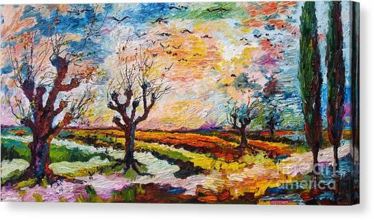 Autumn Migration Landscape  Canvas Print by Ginette Callaway