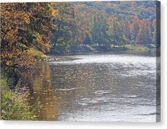 Autumn On The River Canvas Print by Darlene Bell