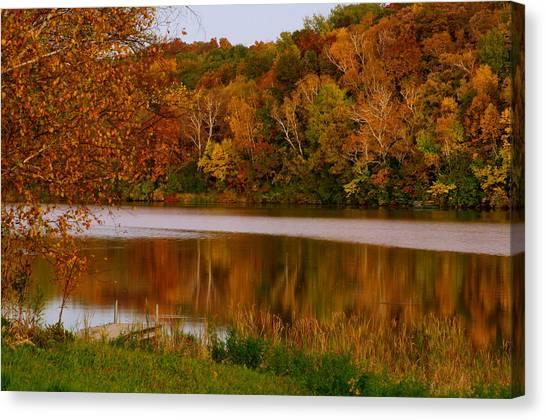 Autumn Reflection Canvas Print by Susan Camden