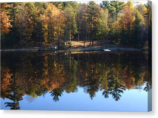 Autumn Reflections Canvas Print by Kim French