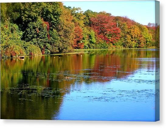Autumn Reflections Canvas Print by Susan Elise Shiebler