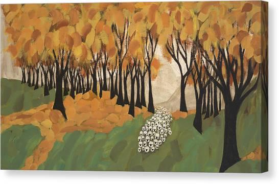 Autumn Sheep Canvas Print