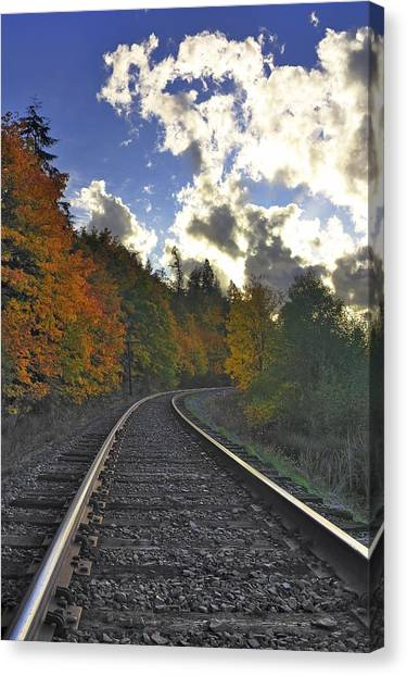 Autumn Tracks Canvas Print