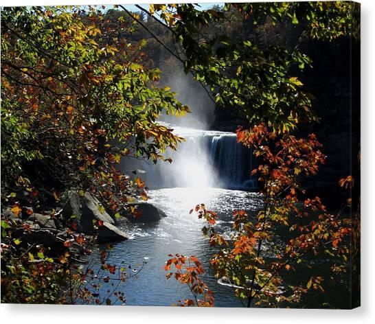 Autumn Waterfall Canvas Print