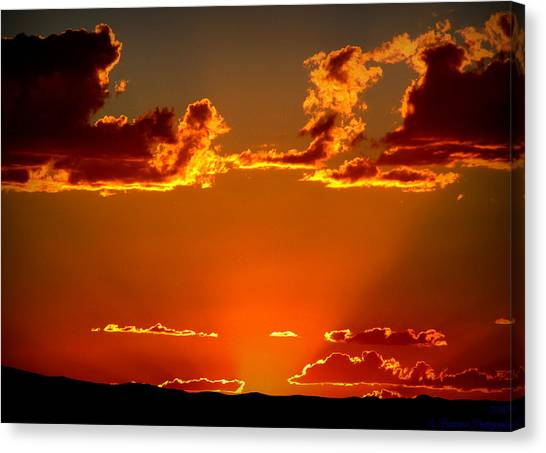 Autumn's Sunset Canvas Print by Aaron Burrows