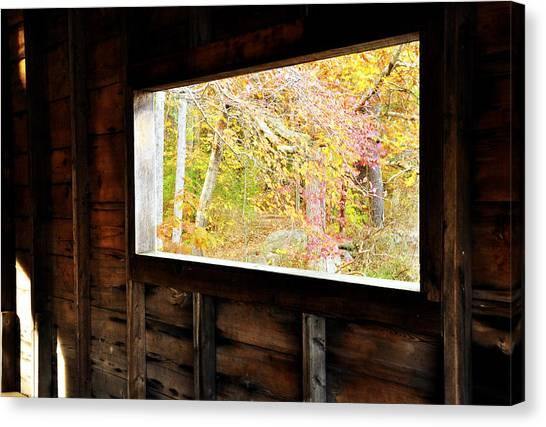 Autumn's Window Canvas Print