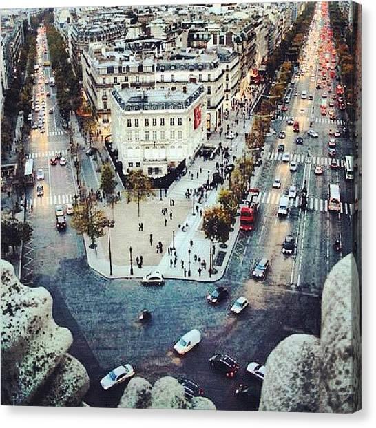 Tuna Canvas Print - Avenue Des Champs-elysees, Over Arc De by Yalin Tuna