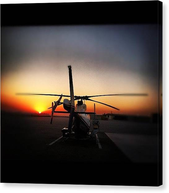 Helicopters Canvas Print - #avgeek #aviation #flying #helo by Artistic Shutter