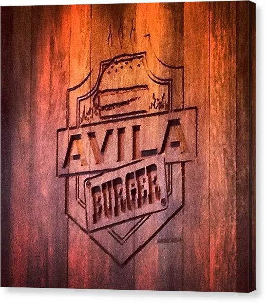 Hamburger Canvas Print - #avilaburger #caracas #hamburger by Fran Colmenares