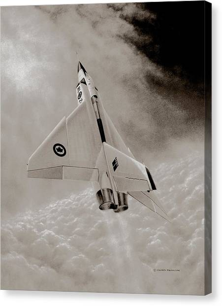 Missles Canvas Print - Avro Arow Ghost Flight by Michael Swanson