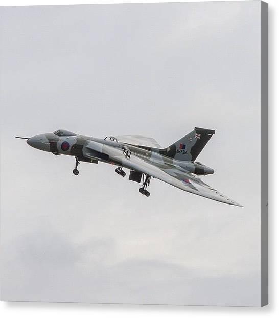 Vulcans Canvas Print - Avro Vulcan Xh558 At Farnborough Air by Dave Lee