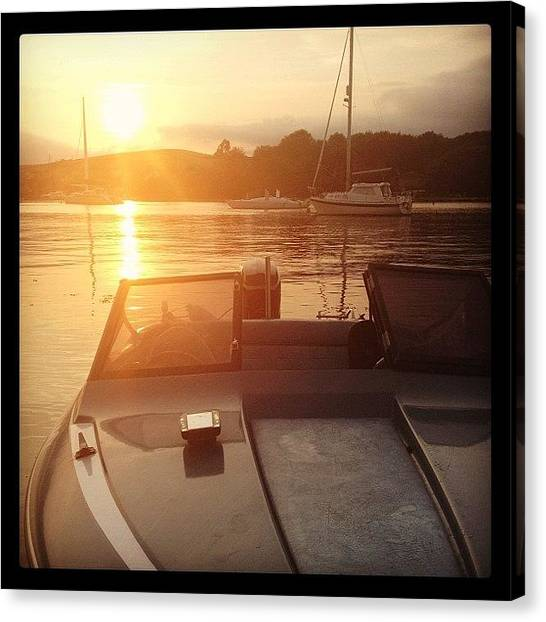 Mercury Canvas Print - Awesome Evening On The 4nik8or by Joe Trethewey