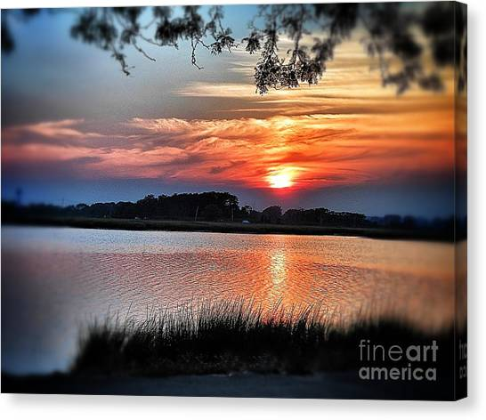 Awesome Sunset Canvas Print by Claire Reilly
