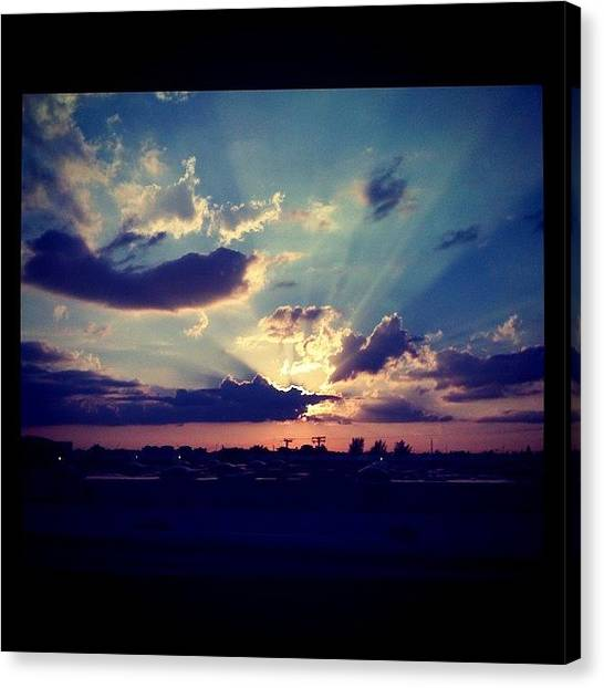 Surrealism Canvas Print - Awesome #sunset Yesterday. #sky #wow by Emily W