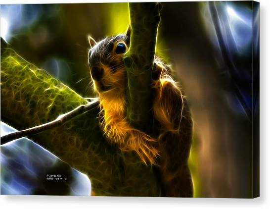 Awww Shucks- Fractal - Robbie The Squirrel Canvas Print