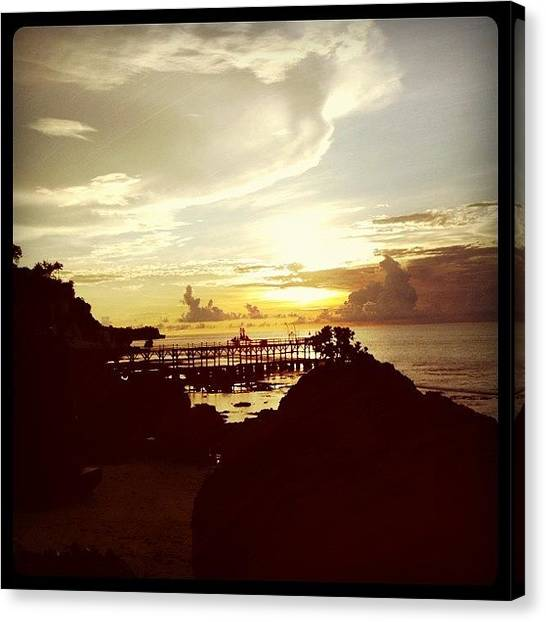 Beach Cliffs Canvas Print - Ayana by Bonnie Mulholland