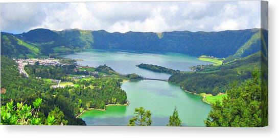 Azores-lakes Canvas Print by Jenny Senra Pampin