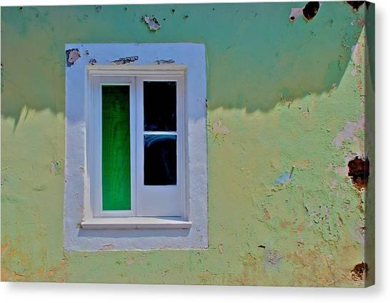 Azores Window Canvas Print
