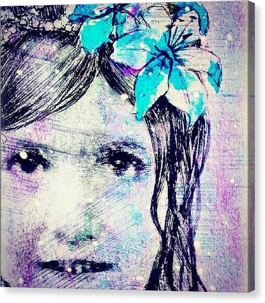 Princess Canvas Print - #baby #angel #beauty #beautiful by Shawna Poulter