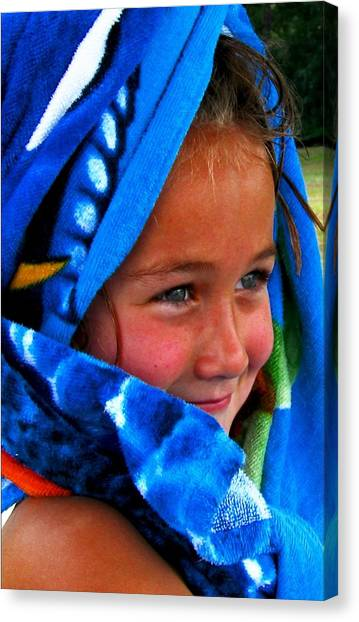 Baby Blue Eyes Canvas Print by Carrie OBrien Sibley