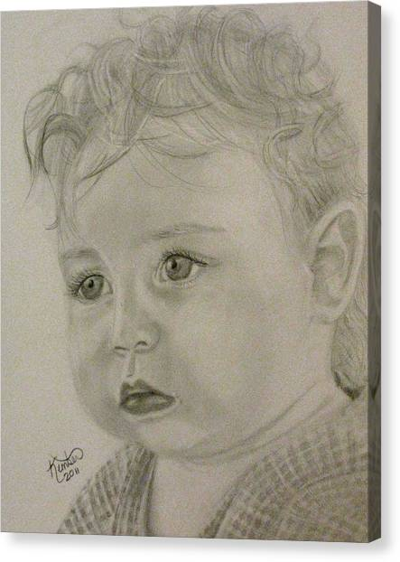 Baby Face Drawing By Kimber Butler