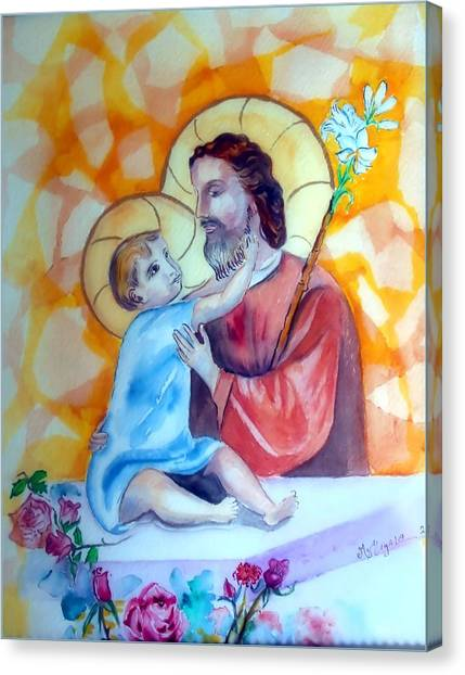 Baby Jesus  Canvas Print by Myrna Migala
