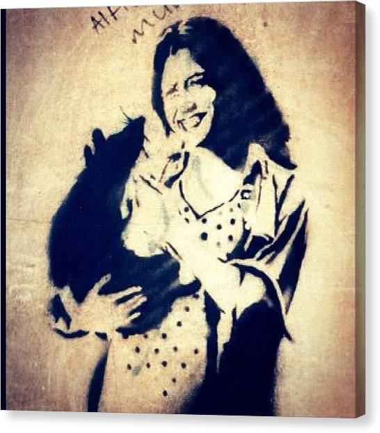 Baby Canvas Print - #baby #rat #stencil #streetart by A Rey