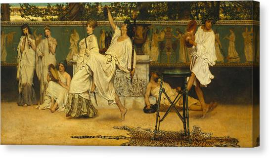 Tambourines Canvas Print - Bacchanal by Sir Lawrence Alma-Tadema