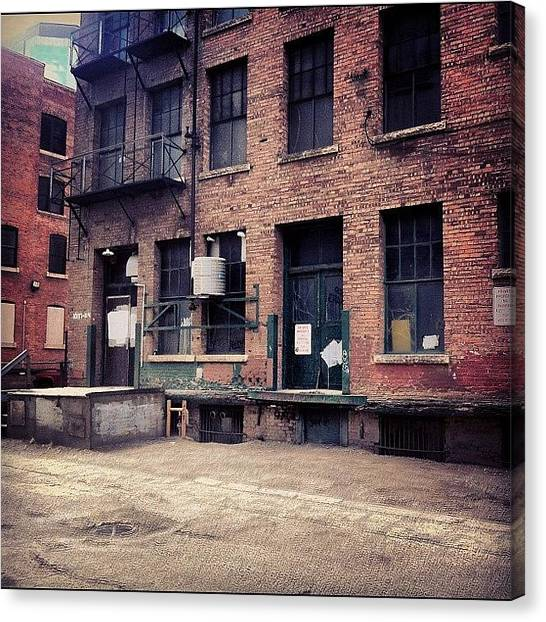 Back Canvas Print - #back #alley #loading #dock Ind by Eric Dick