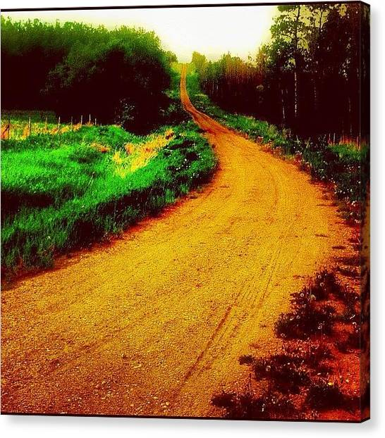 Dirt Road Canvas Print - Back #country #road Near #dawsoncreek by Eric Dick