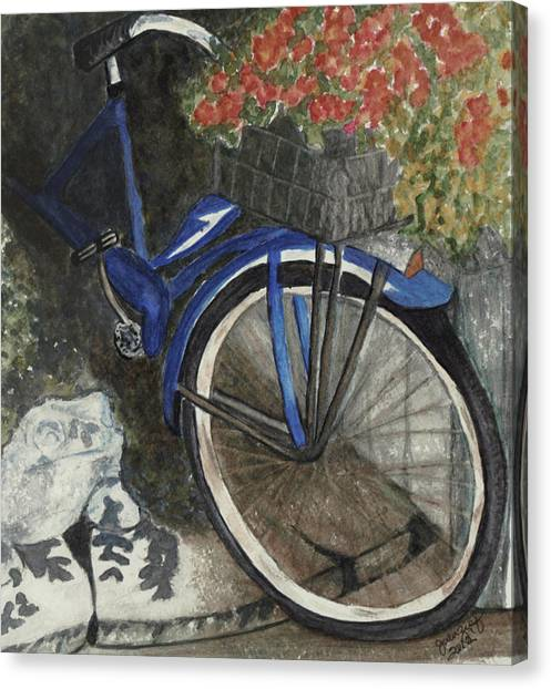 Back Door At Brick Street Cafe Canvas Print by Joan Zepf