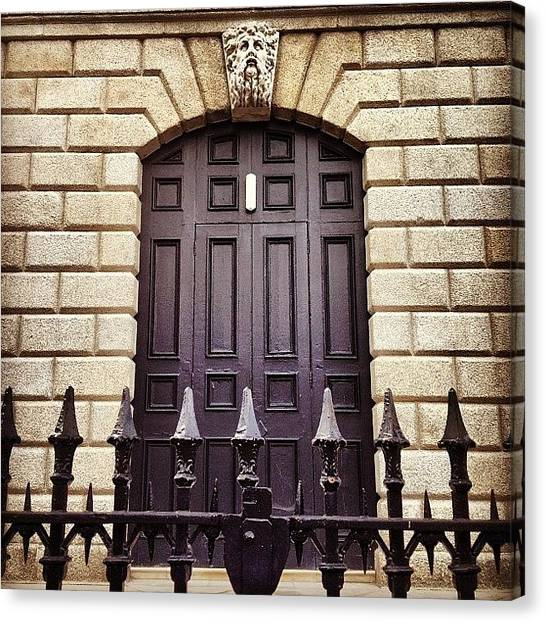 Priests Canvas Print - Back Door Of Temple Street Church by Fotocrat Atelier