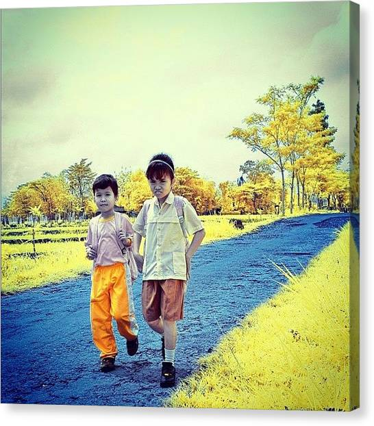 Igers Canvas Print - Back From School by Tommy Tjahjono