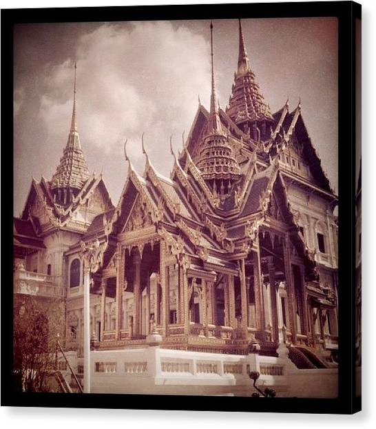 Temples Canvas Print - Back In Bangkok... by Cheerful D