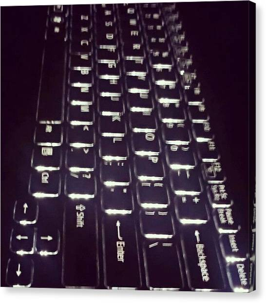 Keyboards Canvas Print - Back Lit by Jinxi The House Cat