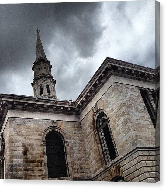 Priests Canvas Print - Back Of Temple Street Church Dublin by Fotocrat Atelier
