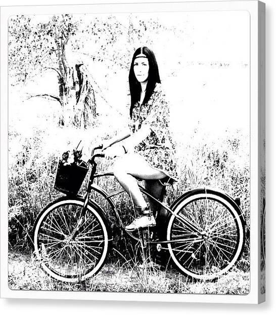 Back Canvas Print - #back #retro #vintage #bike#hippie by Ange Exile DuParadis