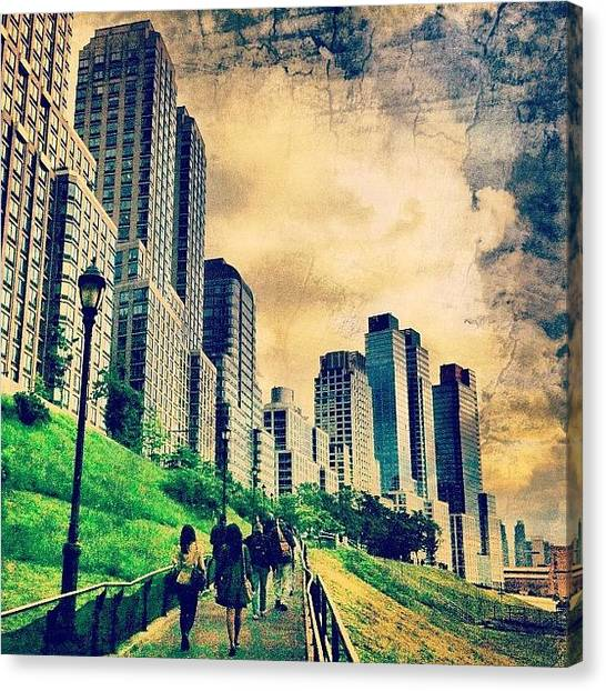 Skyline Canvas Print - Back To The City.  by Luke Kingma