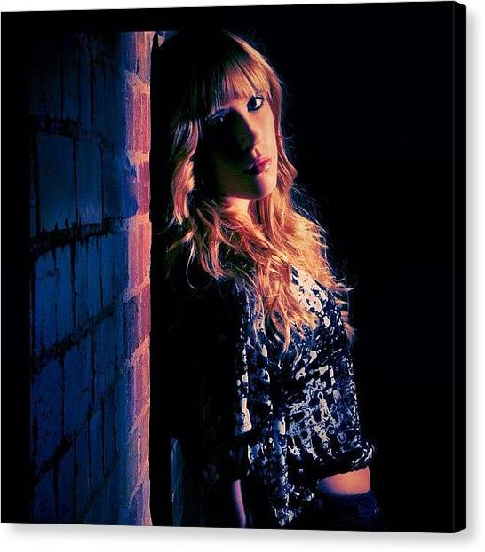 Back Canvas Print - Back To The Wall, Don't Be Afraid by Taylor Made