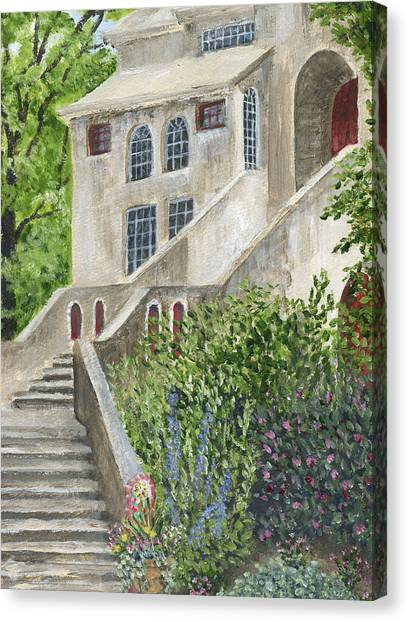 Backsteps At Fonthill Canvas Print