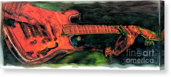 Slide Guitars Canvas Print - Backwater Blues by FeatherStone Studio Julie A Miller
