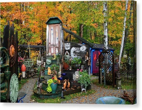 Backyard Craft Show Canvas Print