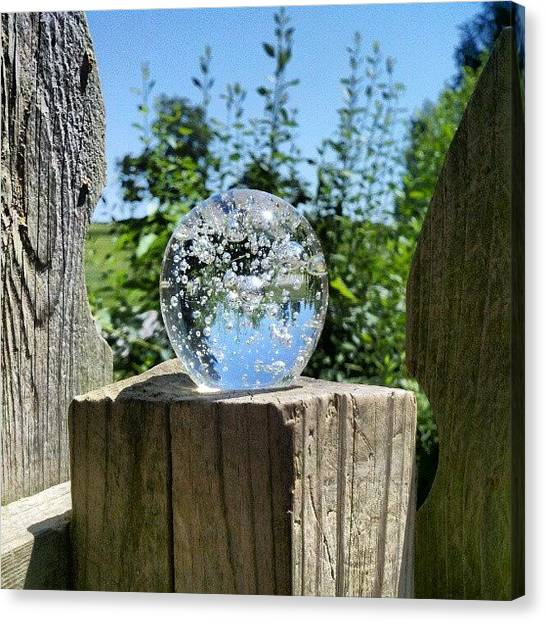 Fantasy Canvas Print - Backyard Magic #crystalball #magic by Melissa Wyatt