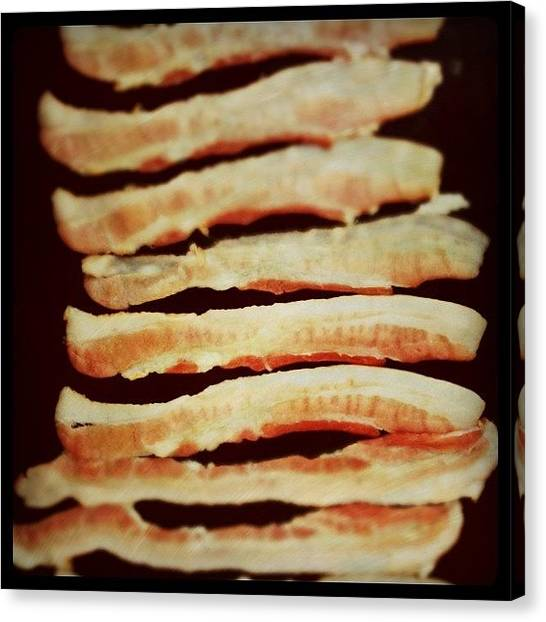 Ham Canvas Print - Bacon And Bacon by Florian Divi