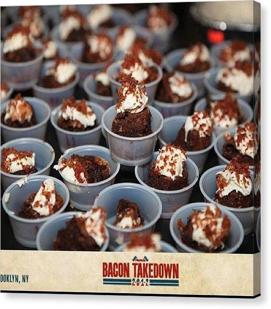 Bacon Canvas Print - Bacon Nutella Brownies... I Gotta Try by Jim Neeley