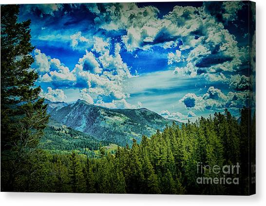 Bad Mountain Canvas Print by Rick Bragan